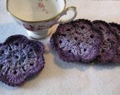 Coasters Mug Rugs Shades of Purple Set of 4