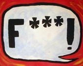 F- - - Bubble - 11x14 inch custom painting