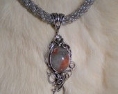 GRAY KUMIHIMO NECKLACE by BonnieKaren