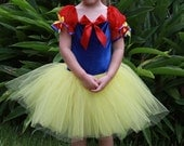 Snow white inspired custom Halloween costume tutu 5