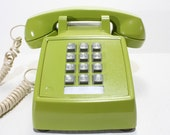 Refurbished Green Western Electric Push Button Phone