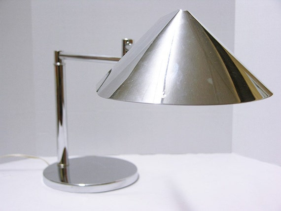 Vintage Koch And Lowy Chrome Table Lamp