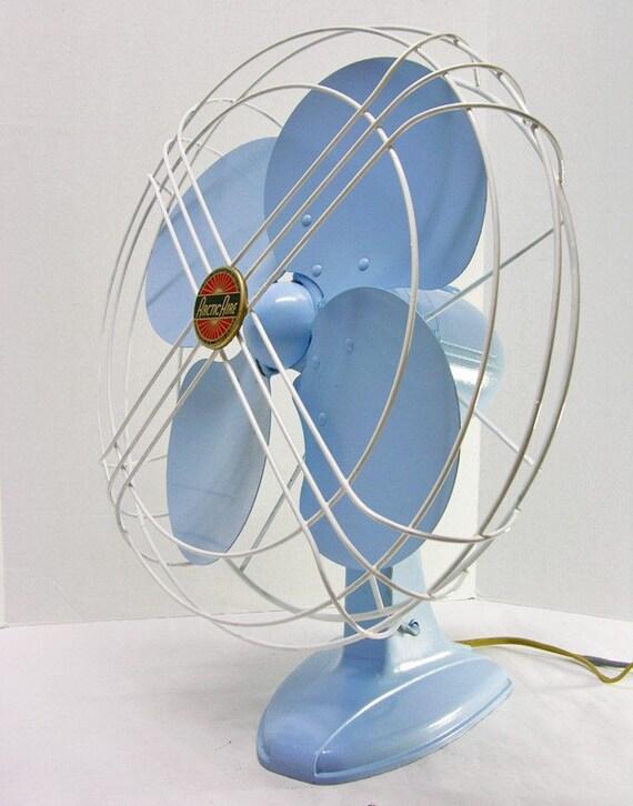 Refurbished Vintage Arctic Aire Blue Electric Fan