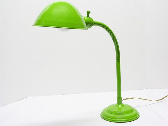 Shabby Chic Green Metal Electric Desk Lamp – Green Desk Lamps