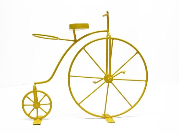 Retro Yellow Metal Bicycle