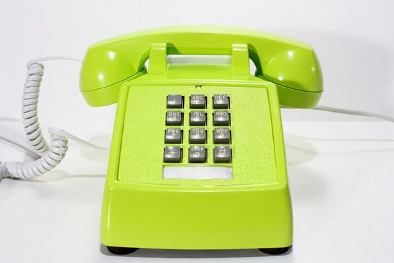 Refurbished Green Pactel Push Button Phone
