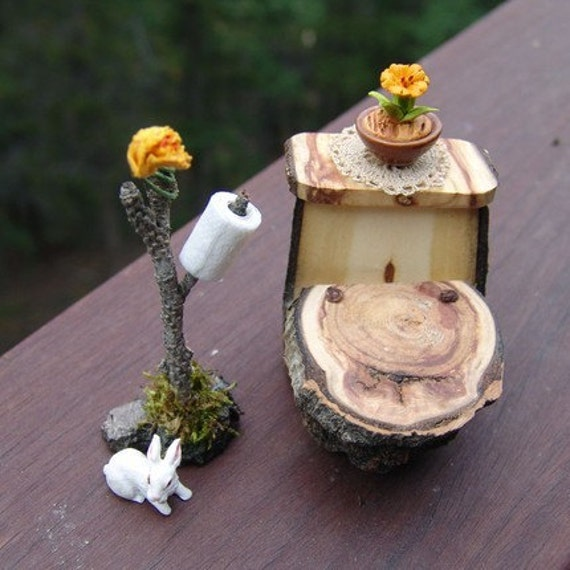 Fairy Furniture Dollhouse Toilet