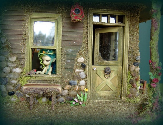 Furnished fairy house for fairies and tiny BJDs