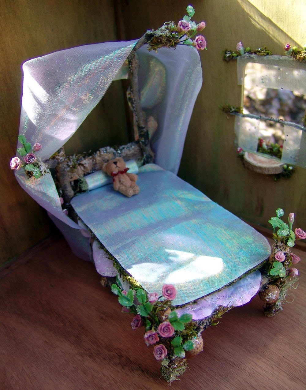Fairy furniture dollhouse bed for Fairytale beds