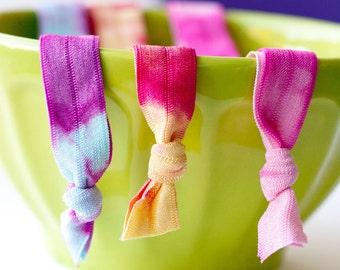The Good Karma Package - 3 Elastic Tie Dye Headbands by Mane Message on Etsy