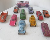 RESERVED...Vintage Tootsie Toy Cars and Trucks, Die Cast, 1960's