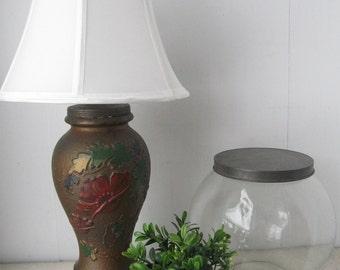 Poppy Flower Goofus Glass Lamp,1930's