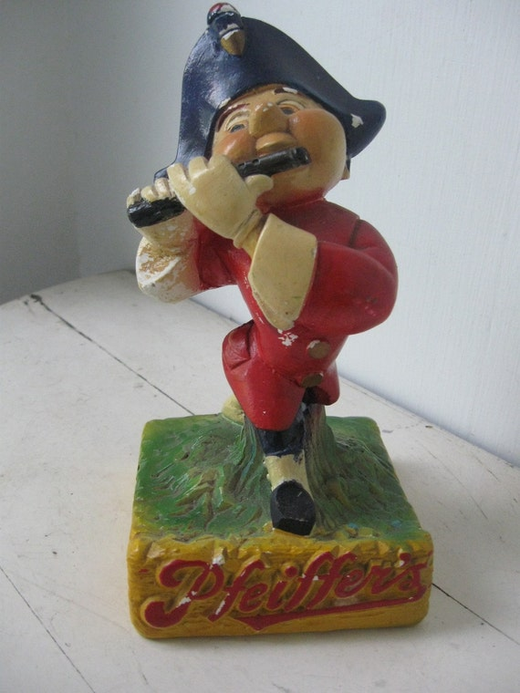 RESERVED..Vintage Pfeiffer's Brewery Advertising Chalkware Figurine, Detroit