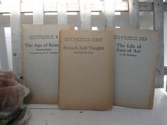 French Self Taught...... 1920's Little Blue Book Series, set of 3