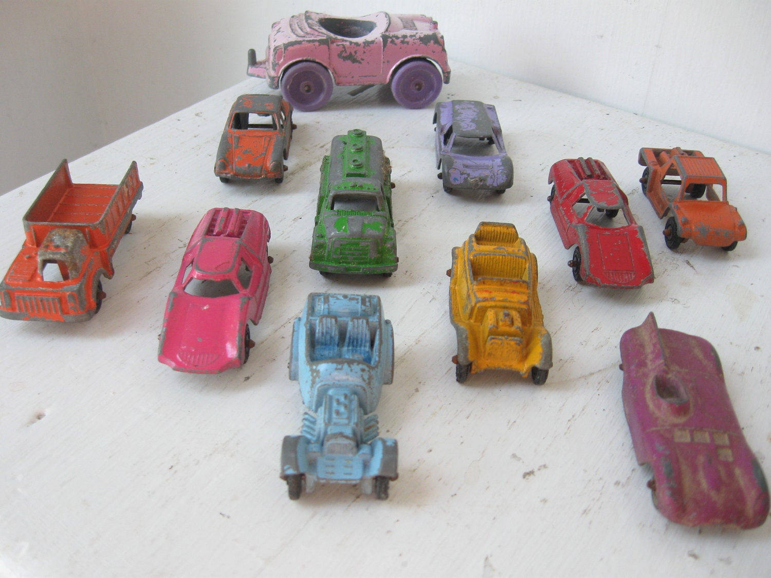 RESERVED...Vintage Tootsie Toy Cars and by BoomtownMercantile