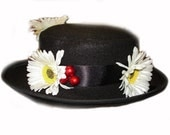 Custom Boutique MARY POPPINS Inspired Nanny's Black Hat