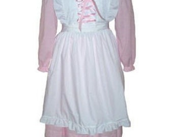 Custom Boutique Halloween LITTLE BO PEEP Adult Size Costume Dress Set in Pink