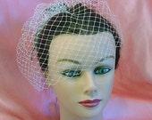 Shelby - Small Cabaret Style French Birdcage Wedding Veil Blusher