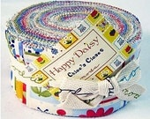 Happy Daisy Jelly Roll by Chloes Closet, 2.5 inch wide, strips, Reg Price 31.99 - LAST ONE - Shop Closing