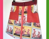 L - Aline Skirt - Mix of vintage fabrics - I Love Lucy