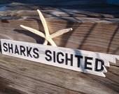 Beach Sign Shark Bite Nautical Decor Beach Cottage Coastal Nursery