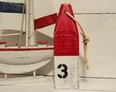 Nautical Buoy  Custom Beach Decor ONE Choose your Numbers and 2 Colors