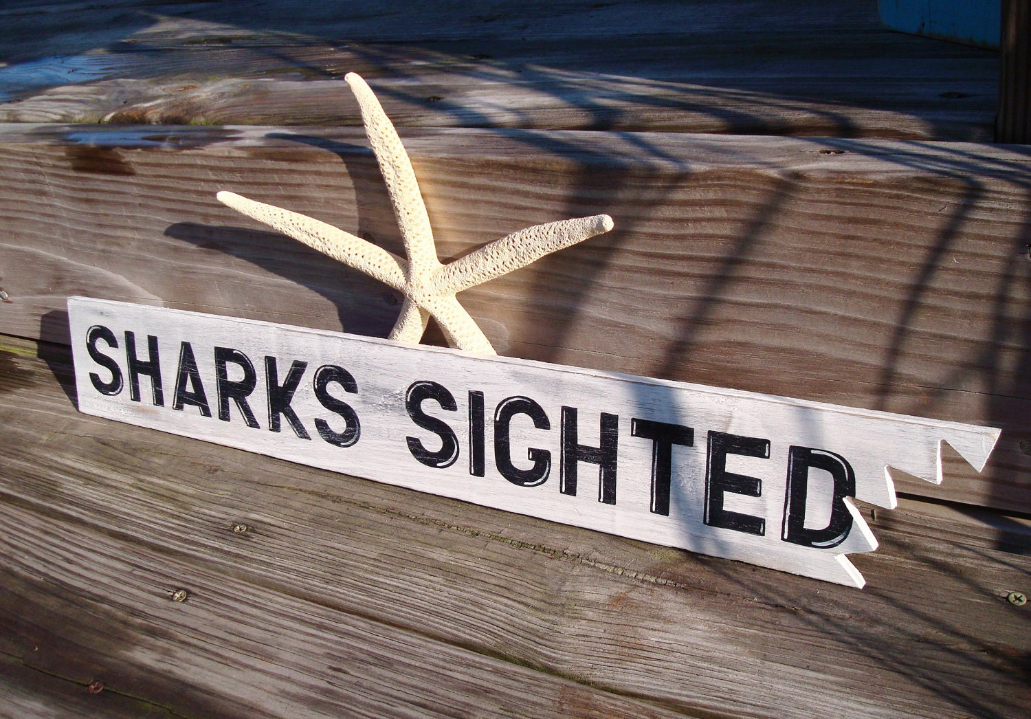 Beach Sign Shark Bite Nautical Decor Beach By Justbeachyshop