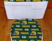 Green Bay Packers Toilet Seat Cover and Tank Lid Cover Set
