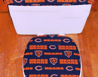 Chicago Bears Toilet Seat Cover and Tank Lid Cover Set