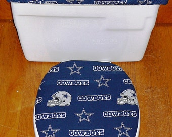 Dallas Cowboys Toilet Seat Cover and Tank Lid Cover Set