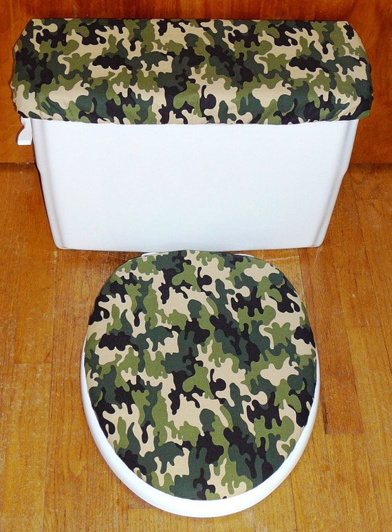 camouflage toilet seat and tank lid cover set