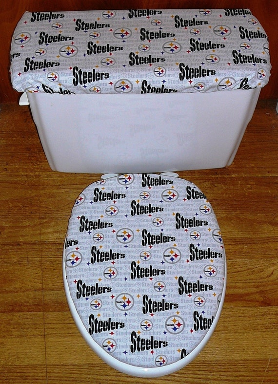 Pittsburgh Steelers Toilet Seat And Tank Lid By
