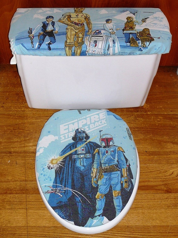 Star Wars Toilet Seat And Tank Lid Cover Set 2 Towels 1