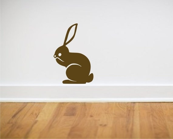 Brown Bunny vinyl wall decal from Fairytale Forest Scene