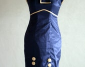 1930s 1940s Wiggle Dress - Sizes 4 to 20 and Plus Size - Custom Made Vintage Style
