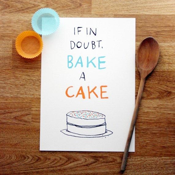 Bake a Cake screen-print