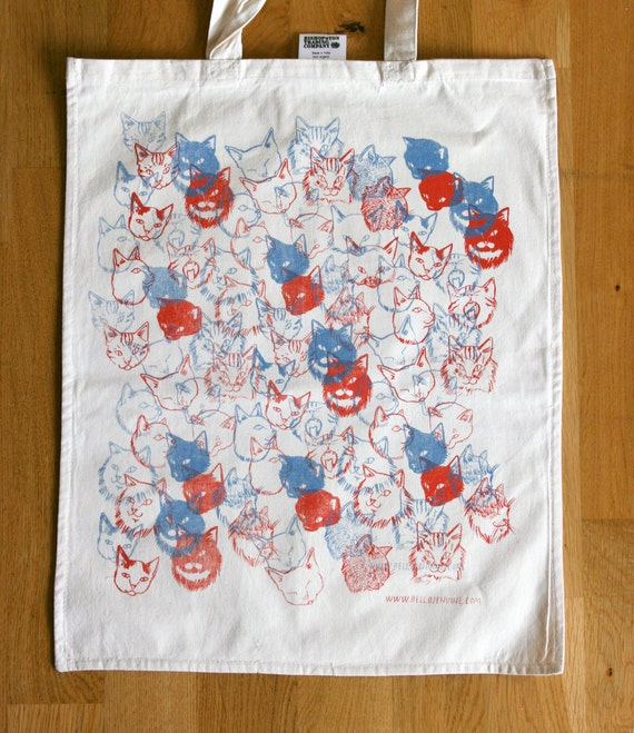 SALE: 3D Cats tote bag
