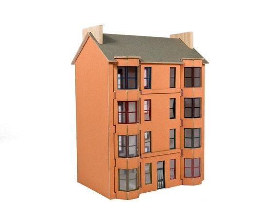 Scottish Tenement Model Kit - Red sandstone