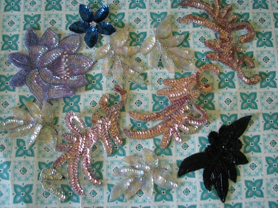 Fun lot of Vintage Sequined Appliques