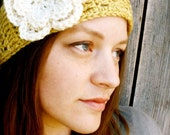 CROCHET PATTERN PDF - Crochet Boho Headband / Headwrap with Layered Flower - Permission to Sell What You Make