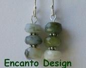 Peruvian Opal earrings - Natural stone earrings - sterling silver earrings