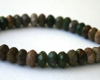 Fancy Jaspers bracelet, sterling silver bracelet, handmade stone bracelet