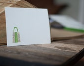 Purse Note Cards with Vintage Dictionary Envelopes