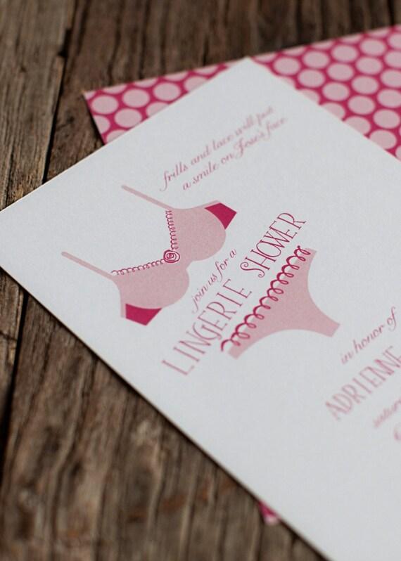 Lingerie Shower Invitations reserved for jbane1