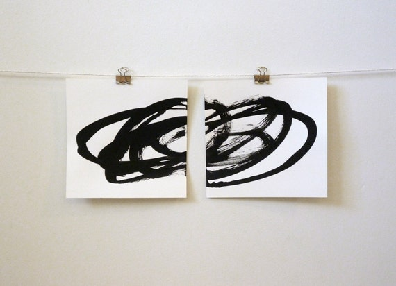 two simple gestures, original contemporary art/room decor