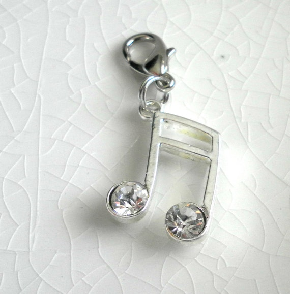 Music Notes - Add on Charm or Zipper Pull