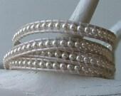 134. White Swarovski Pearl- Leather Wrap Bracelet