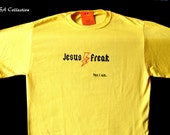Jesus Freak yellow Mens Shirt Size M, free shipping