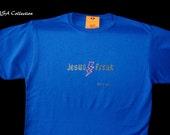 Jesus Freak blue Mens Shirt Size M, free shipping