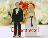 Reserved for Jules. Personalized Wedding Cake Topper Bride and Groom. Uniquely You.